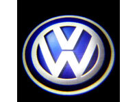 2 x VW 3D COB LED DOOR LOGO COURTESY LIGHT LASER GHOST PROJECTOR SHADOW PUDDLE LAMPS VOLKSWAGEN