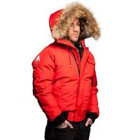 MENS ARCTIC NORTH ST SAUVEUR RED BOMBER SIZE LARGE