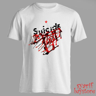 Suicide Band Album Cover Men's White T-Shirt Size S M L XL 2XL 3XL Album White T-shirt