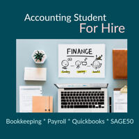 Accounting student for bookkeeping experience