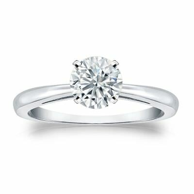 Stunning 0.30 Cts F/VS1 GIA Certified Natural Diamond Solitaire Ring In 14K Gold