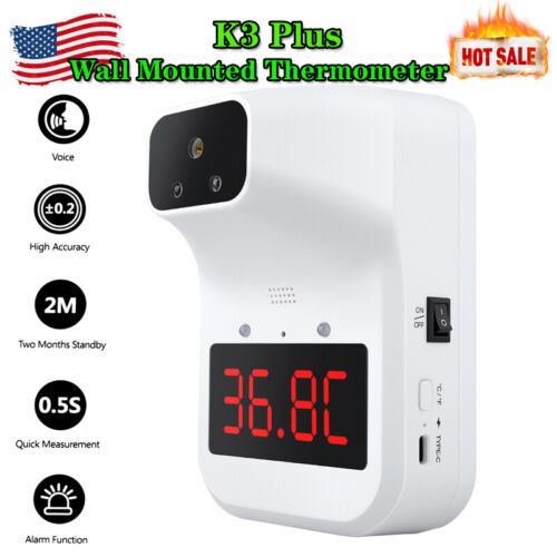 K3 Plus Wall Mounted Non-contact Forehead Thermometer Digital Infrared For Adult