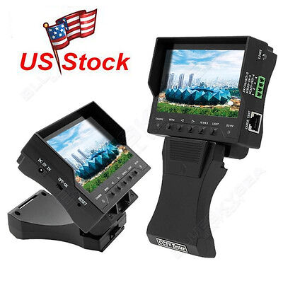 """US! 4.3"""" LCD Monitor Video/Audio/UTP Test CCTV Tester Security Camera Tester"""