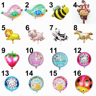 Kids Horse Lion Monkey Foil Ballon Animal Birthday Party Decor Cow Pig Birds - Monkey Ballon