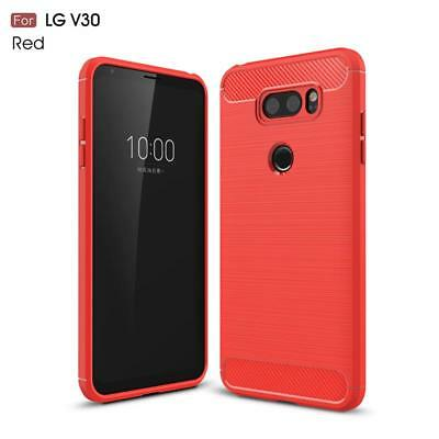 Carbon Fibre Best TPU Silicone Gel Case Protection Cover For LG V40 ThinQ V30