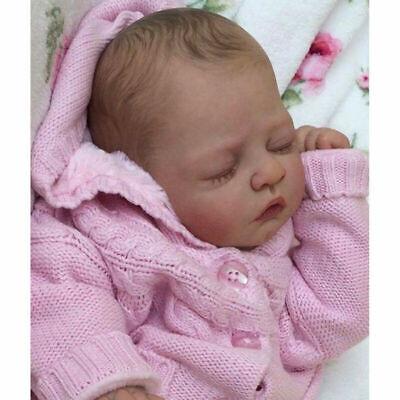 20 Zoll reborn Baby Puppe Lebensecht Handgefertigt Weich Silikon-Vinyl schlafen Reborn Puppe Zubehör