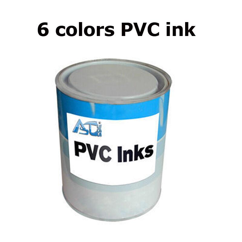 6 Colors Screen Printing Pad Printing PVC Ink 1 Can 2.2Lb (1kg) US