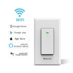 Smart WiFi Light Switch APP Wireless Control from Anywhere Compa