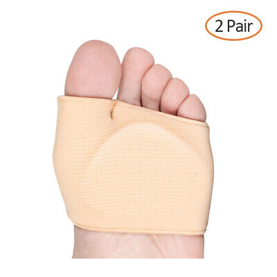 2pair Fabric Metatarsal Sleeve Ball of Foot Cushion Gel Pads for Men and (Gel Football)