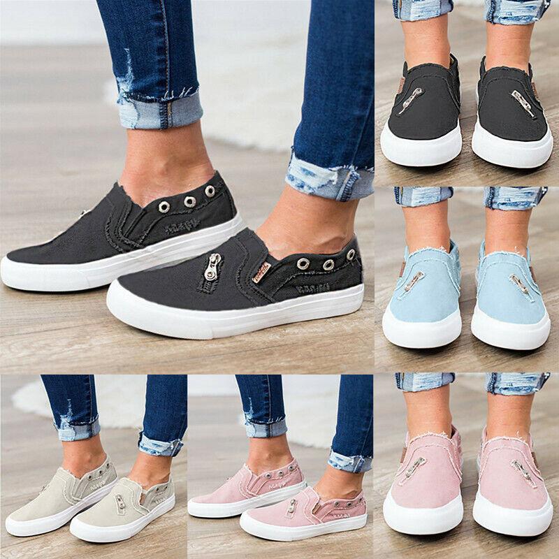 Damen Herren Halbschuhe Sneaker Freizeit Sport Schuhe Turnschuhe Slip On Loafers