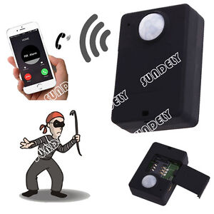 Mini Wireless GSM PIR MP.Alert Anti-theft Alarm Infrared Sensor Motion Detector
