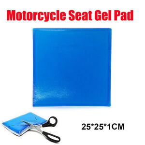 25*25*1cm Motorcycle Seat Gel Pad Shock Absorption Blue Mats Cushion Comfortable