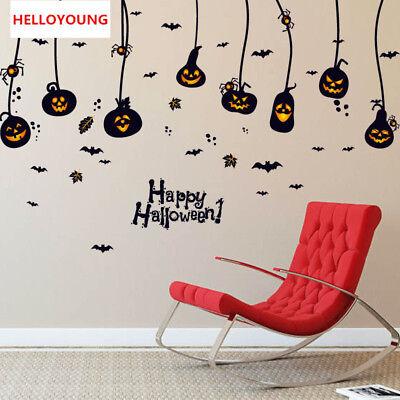 ndaufkleber Halloween Kürbis Licht Wasserdichte Wall Sticker (Halloween Tattoos Für Kinder)