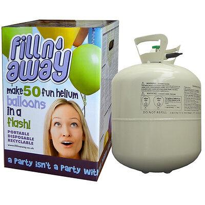Helium Ballongas für 50 Luftballons Ballons Folienballons Einweg Heliumflasche