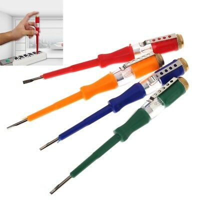 Colorful Test Pen Portable Flat Screwdriver Electric Tool Utility Light Device
