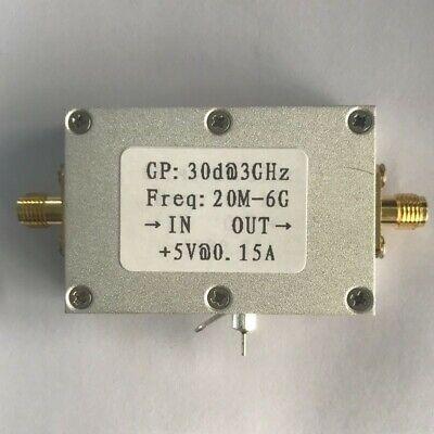 20mhz-6ghz Low Noise Rf Amplifier Broadband High Gain 30db Lna 5v