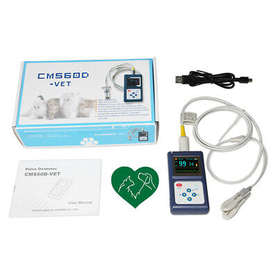 Veterinary Pet Pulse Oximeter Pulse Oxygen Saturation Eartongue Spo2 Pulse Rate
