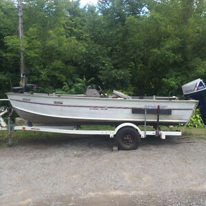 14' Monark Bass Boat & Trailer