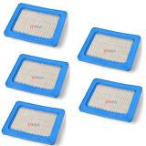 5X Briggs & Stratton Flat Air Filter Cartridge 491588 491588S 5043 5043D Durable