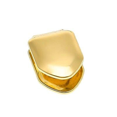 Real Gold Plated Small Single Tooth Cap Grillz Hip Hop Teeth Grill w/Mold *USA*