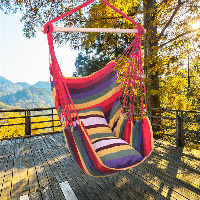hanging rope hammock rope chair porch swing