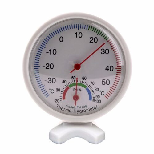 New Analog Humidity Hygrometer Thermometer Temperature Weather Meter -35~55°C #Y