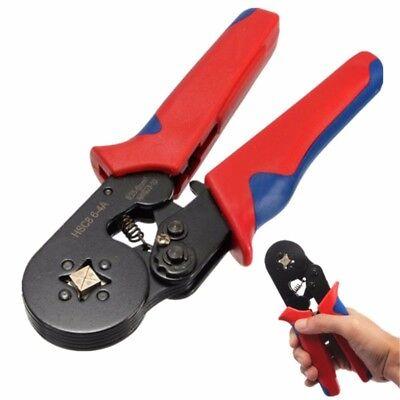 Self Adjusting Ratcheting Ferrule Crimper Pliers Hsc8 6-4a 0.25-6mm Awg23-10