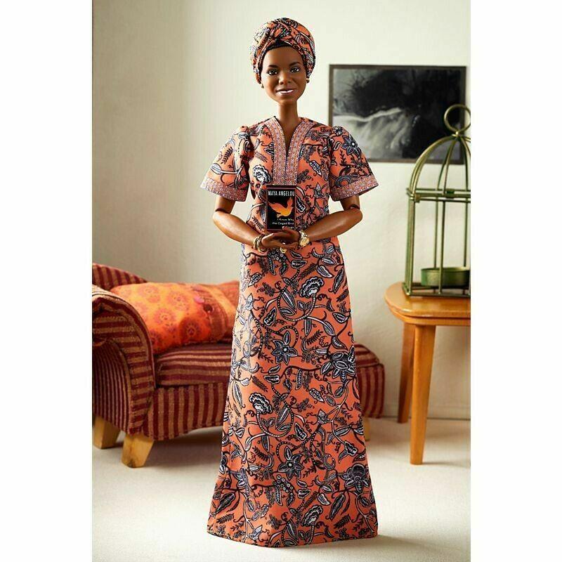 Maya Angelou Barbie Signature Inspiring Women Series Collector Doll 12 IN HAND - $50.00