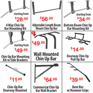 Adjustable Beam Wall Joist Mounted Doorway Chin up Pull up Bars