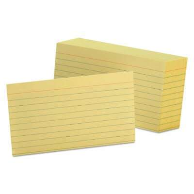 Oxford Ruled Index Cards 3 X 5 Canary 100pack 078787731226