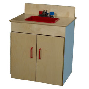 Kids Kitchen Play Set- Dramatic Play Plywood Sink, Blueberry