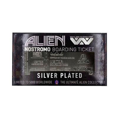 Alien réplique Nostromo Boarding Ticket Limited Edition plaqué argent 464829