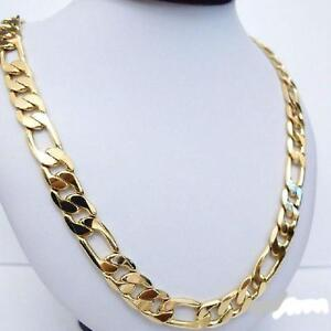 new! heavy 94g 12mm 18k yellow gold filled men's gold chain,,,