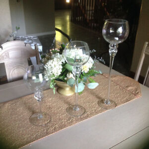 Centrepiece candle holders for wedding (250 for entire set)