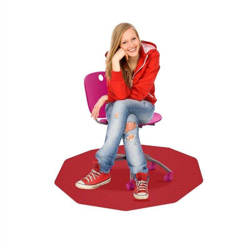 """CraftTex 9Mat  Chair Mat for Hard Floors  Cerise Pink  38"""" x 39"""""""