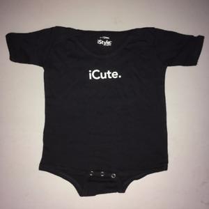 iCute BABY ONE PIECE SNAPSHIRT (iStyle Originals) 6-12 Months
