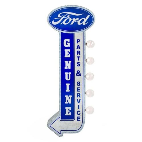 Genuine Ford Parts & Service LED Marquee Garage Sign - Trucks Double Sided Light