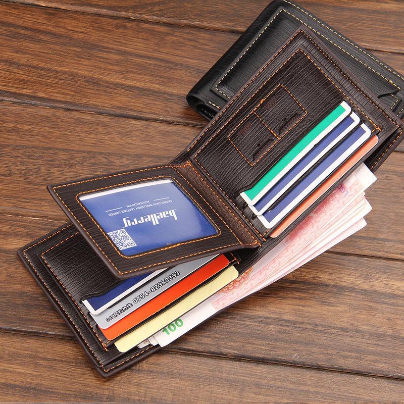 Slim Men Leather Bifold Wallet Purse Business ID Credit Card Holder Gift US FAST