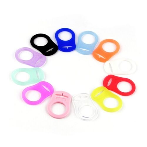 Baby Dummy Pacifier Rings Teether Holder Clip Adapter For Ba