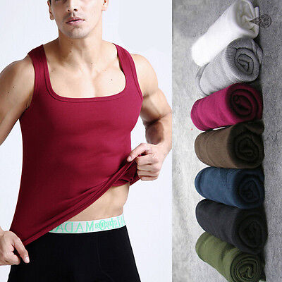 US Mens Boy Comfy Cotton A-Shirt Top Quality Muscle Ribbed Wife Beater/Tank - Muscle Boy