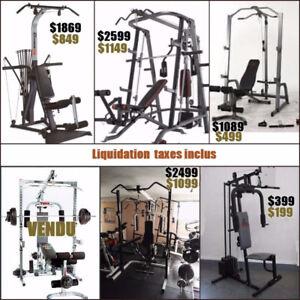 Liquidation 6 smith machine cage squat rack ( fermeture) bowflex