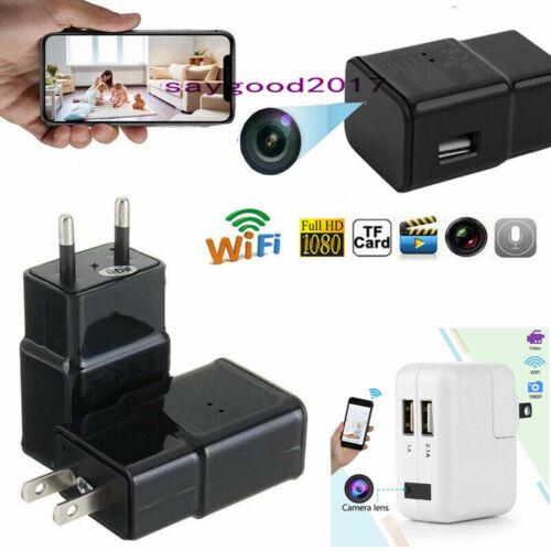 Mini Wifi Charger Spy Camera 1080P Full HD Camcorder Hidden DVR Loop Record