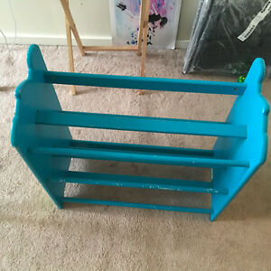 Light Blue Shoe Rack