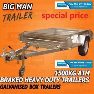 7x5 NO CAGE ? Galvanised Box Trailer Side LED ADR Light Braked!!!