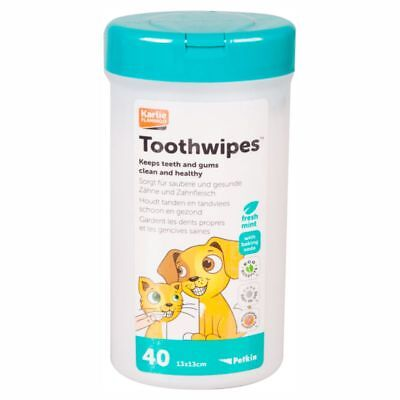 Karlie Petkin Pflegetücher - Zahnreinigung & Zahnpflege für Hunde/Katzen 40 Stk