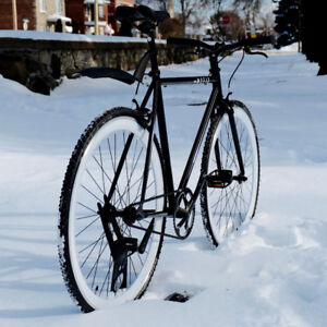 New Single speed bike with winter tires 54cm frame