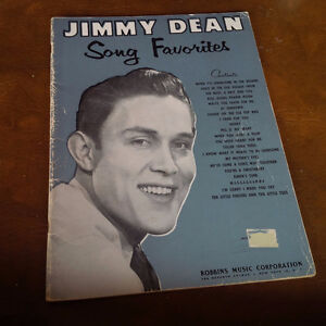 Jimmy Dean Song Favorites, 1958, 21 Songs, 48 Pages