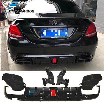 Fits 15-18 Mercedes W205 C-Class C63 C63S AMG B Style Rear Lip Diffuser