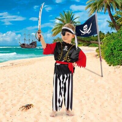Pirat Jungen Kinder Kostüm Gr. 116 122 128 - Jungen Kostüm Set