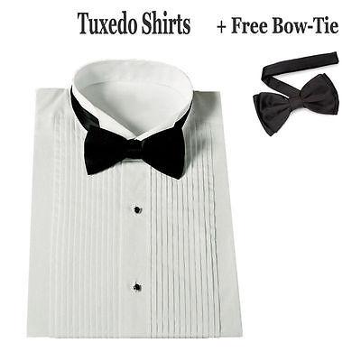 Boy's Standard Cuff Tuxedo Dress Shirt Wing Collar with Bow-Tie KG11 Size: 8--20